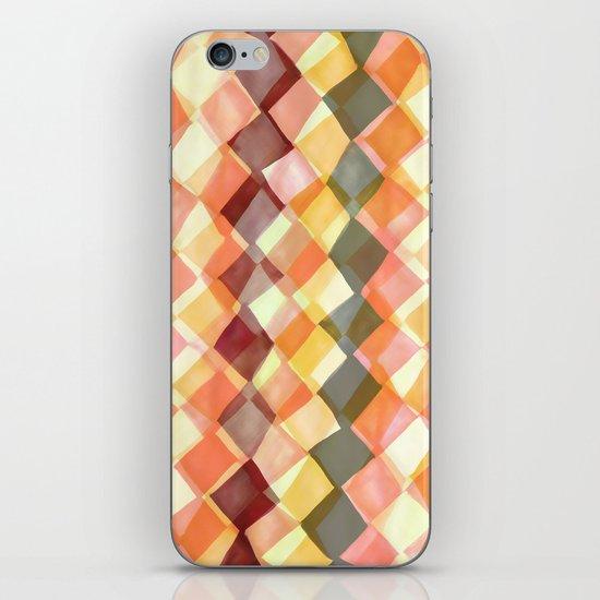 Watercolour and digital diamond pattern iPhone & iPod Skin