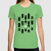 Minimalism 13 Womens Fitted Tee Grass SMALL