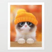 Shui The Kitten Art Print