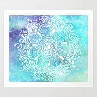 Galaxy Mandala - Watercolor Art Print