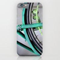 iPhone & iPod Case featuring Green bike by Marieken