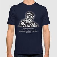 man of the sea Mens Fitted Tee Navy SMALL
