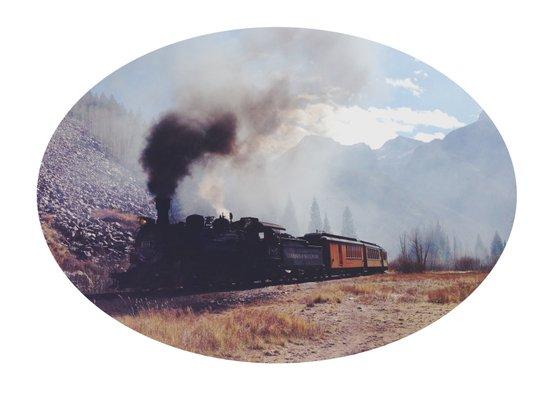 Mountain Train Art Print
