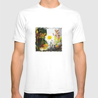 Daisies Mens Fitted Tee White SMALL