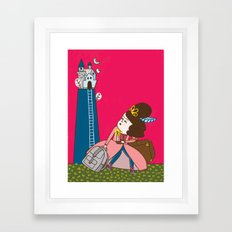 Runaway Princess Framed Art Print