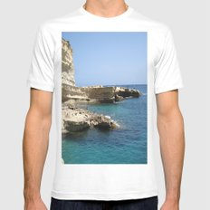 Rocks Mens Fitted Tee White SMALL