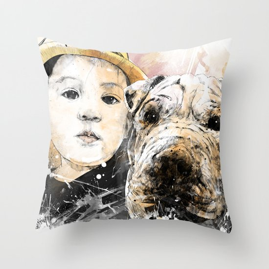 Best Friends Throw Pillow