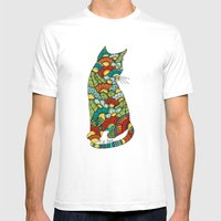Cat lover Mens Fitted Tee White SMALL