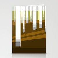 Minimal Finland (silver birch forest) Stationery Cards