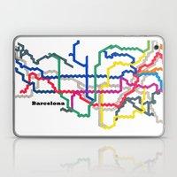 Barcelona Metro Map Laptop & iPad Skin