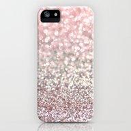 Girly Pink Snowfall iPhone (5, 5s) Slim Case