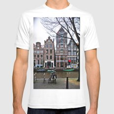 Amsterdam White SMALL Mens Fitted Tee