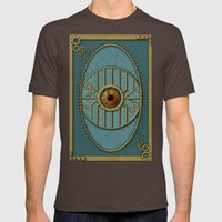 Steampunk Security Mens Fitted Tee Brown SMALL