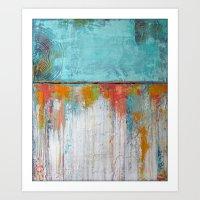 Coral Reef - Textured Ab… Art Print