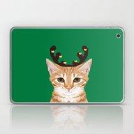 Tabby Cat Reindeer Costu… Laptop & iPad Skin