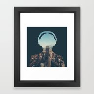 Framed Art Print featuring New York, New York Heads… by EARTh