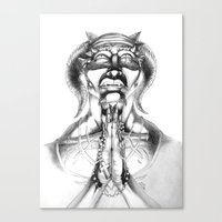Prayer (Pencil) Canvas Print
