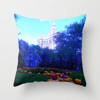 Path of Petals Throw Pillow