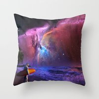 Space Surfer Throw Pillow