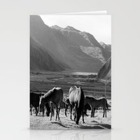 horses Stationery Cards featuring Horses by Avigur