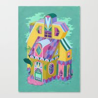 Yellow House Canvas Print