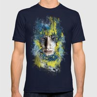 Shutter Mens Fitted Tee Navy SMALL
