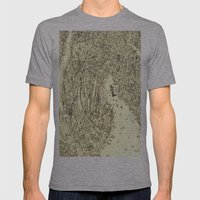 following footprints Mens Fitted Tee Athletic Grey SMALL