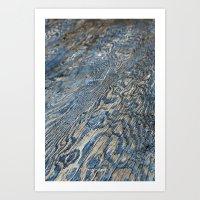 Plywood Ripples Art Print