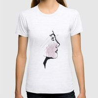 Portrait Womens Fitted Tee Ash Grey SMALL