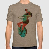 BUNNY HOP Mens Fitted Tee Tri-Coffee SMALL