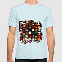 Living In A Box Mens Fitted Tee Light Blue SMALL