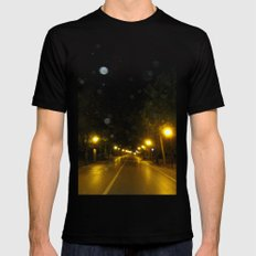 street light Black Mens Fitted Tee SMALL