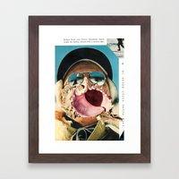 DOZING VOLCANO Framed Art Print