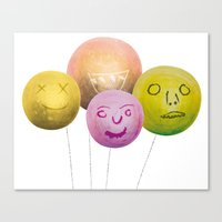 Happy Balloons Canvas Print