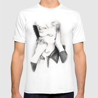 DECONSTRUCTION OF DAVID … Mens Fitted Tee White SMALL