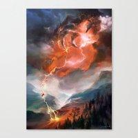Lightning Bolt Canvas Print