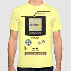 Retro Nintendo Gameboy P… Mens Fitted Tee Lemon SMALL
