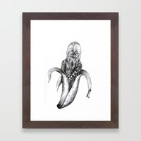 Chewbacca banana Framed Art Print