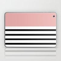 Pinstripe Color Block (Coral) Laptop & iPad Skin