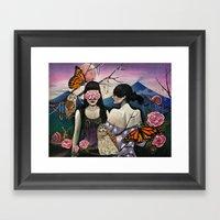 Isabela At Cristina Framed Art Print
