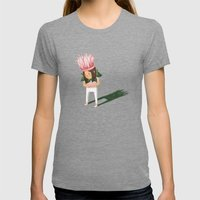 Cyclamen Womens Fitted Tee Tri-Grey SMALL