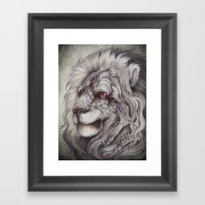 the Nemean Lion Framed Art Print