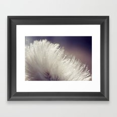 Fluffy white Framed Art Print
