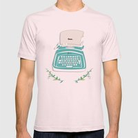 typewriter Mens Fitted Tee Light Pink SMALL