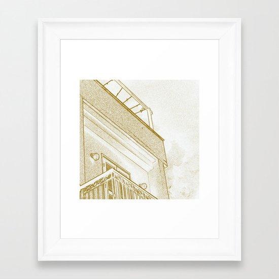 Squarey Framed Art Print