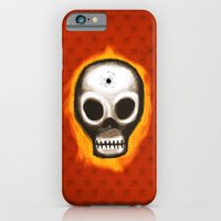 iPhone & iPod Case featuring Skull by Lee Grace Illustration
