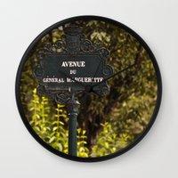 Paris Avenue Wall Clock