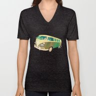 Unisex V-Neck featuring Kombi 1 by Buster Fidez