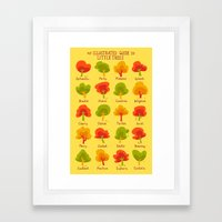 An Illustrated Guide To Little Trees Framed Art Print