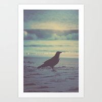 Blues & Crow Art Print